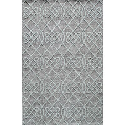 Hand-Tufted Gray/Mint Area Rug Rug Size: 8 x 10