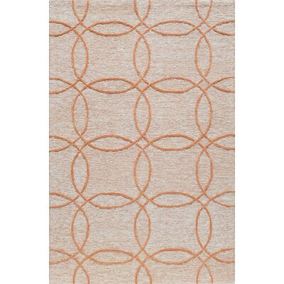 Hand-Tufted Orange Area Rug Rug Size: Rectangle 8 x 10