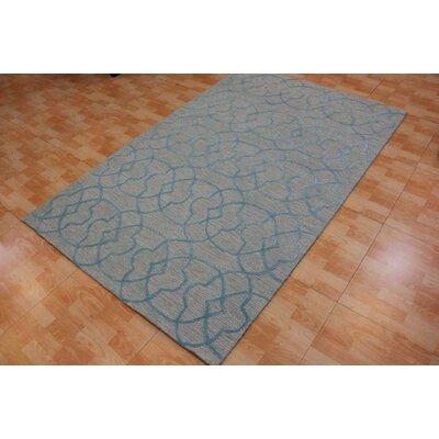 Hand-Tufted Blue Area Rug Rug Size: 5 x 8