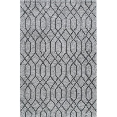 Hand-Tufted Gray Area Rug Rug Size: Rectangle 2 x 3
