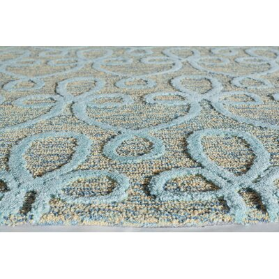 Hand-Tufted Blue Area Rug Rug Size: 2 x 3
