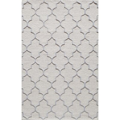 Hand-Tufted White Area Rug Rug Size: 2 x 3