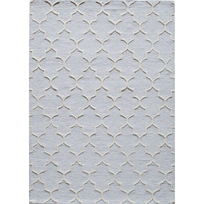 Hand-Tufted Blue Area Rug Rug Size: 8' x 10'