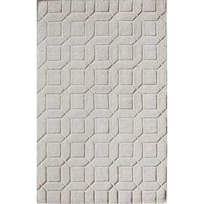 Hand-Tufted Ivory Area Rug Rug Size: 2' x 3'