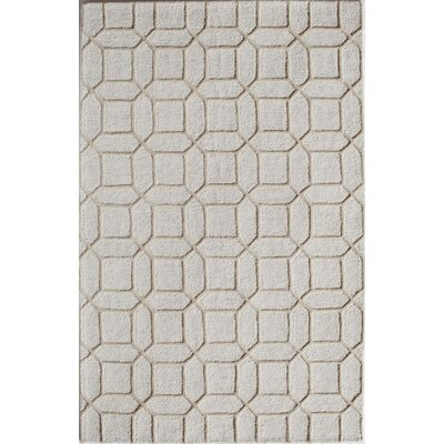 Hand-Tufted Tan Area Rug Rug Size: 2 x 3