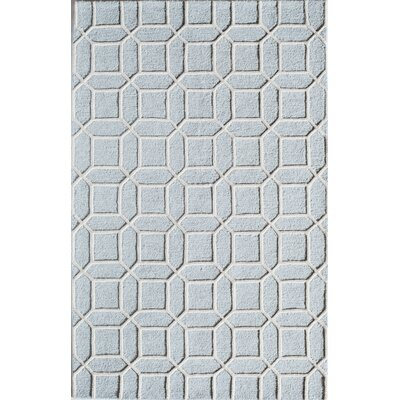 Hand-Tufted Blue Area Rug Rug Size: 5 x 8