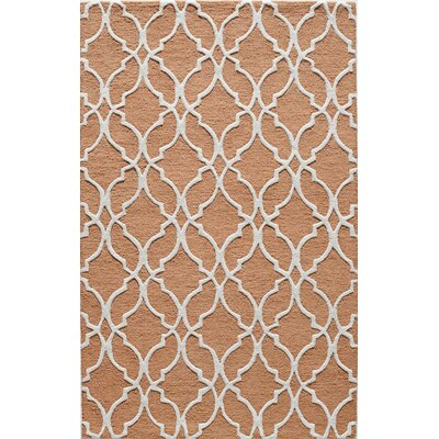 Hand-Tufted Orange Area Rug Rug Size: 5 x 8