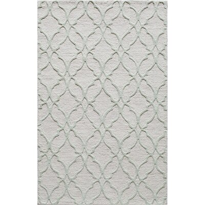 Hand-Tufted Sage Area Rug Rug Size: 5 x 8