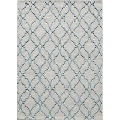 Hand-Tufted Wool Aqua Area Rug Rug Size: 5 x 8