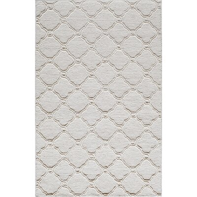 Hand-Tufted Wool Ivory Area Rug Rug Size: 5 x 8