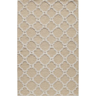 Hand-Tufted Coastal Area Rug Rug Size: 5 x 8