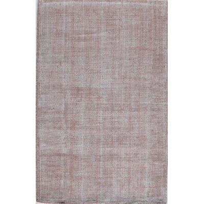 Hand-Tufted Crimson Area Rug Rug Size: Rectangle 8 x 10