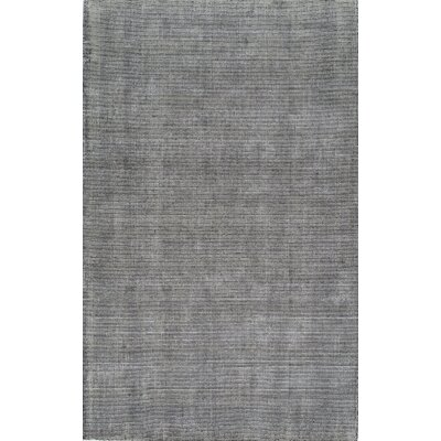 Hand-Tufted Graphite Area Rug Rug Size: Rectangle 5 x 8