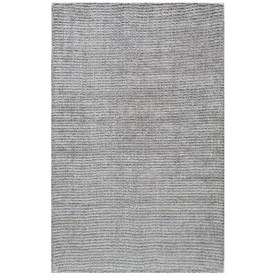 Hand-Tufted Silver Area Rug Rug Size: 5 x 8
