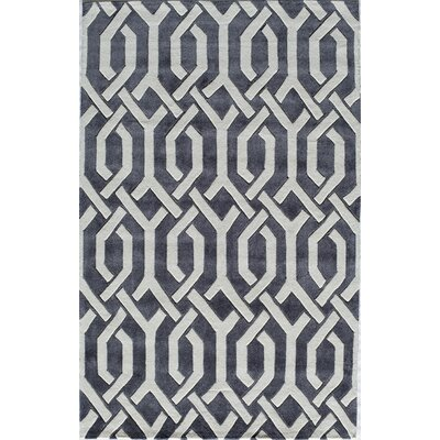 Hand-Tufted Charcoal Area Rug Rug Size: Rectangle 2 x 3