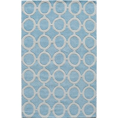 Hand-Tufted Light Blue Area Rug Rug Size: 5 x 8
