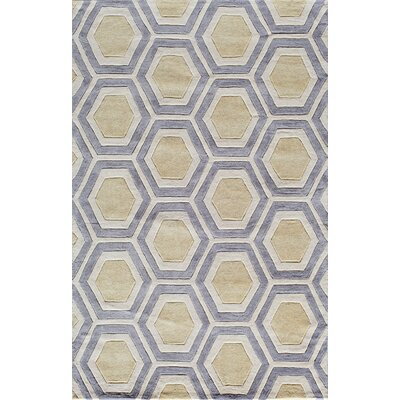 Hand-Tufted Gold Area Rug Rug Size: 2 x 3