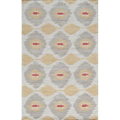 Hand-Tufted Gold Area Rug Rug Size: Rectangle 2 x 3