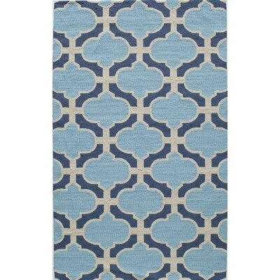 Hand-Tufted Blue Indoor/Outdoor Area Rug Rug Size: 5 x 8