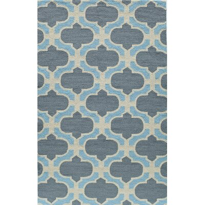 Hand-Tufted Blue Indoor/Outdoor Area Rug Rug Size: 5 x 8