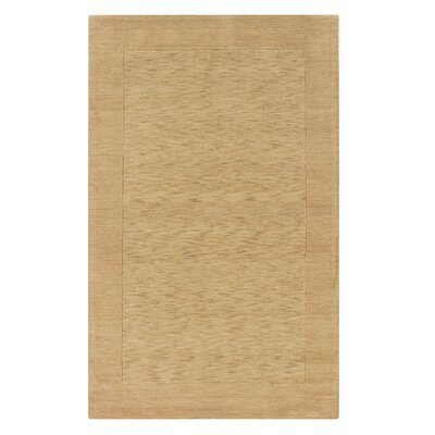 Hand-Woven Gold Area Rug Rug Size: 3 x 5