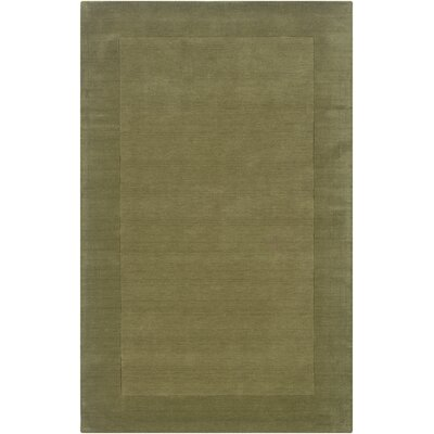 Hand-Woven Green Area Rug Rug Size: Rectangle 5 x 8