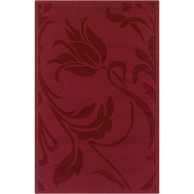 Hand-Woven Red Area Rug Rug Size: Runner 26 x 8