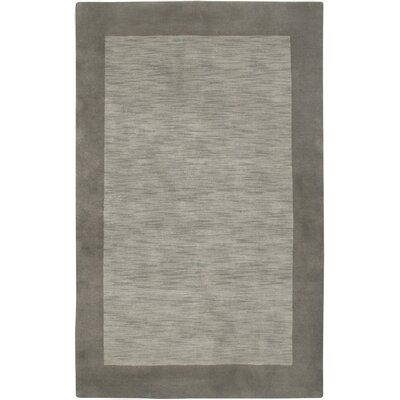 Hand-Woven Grey Area Rug Rug Size: Rectangle 3 x 5