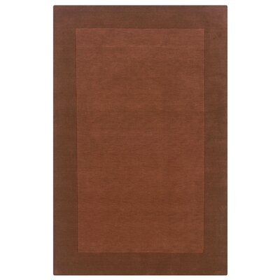 Hand-Woven Terracotta Area Rug Rug Size: 5' x 8'