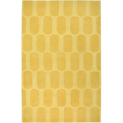 Hand-Woven Gold Area Rug Rug Size: Rectangle 3' x 5'