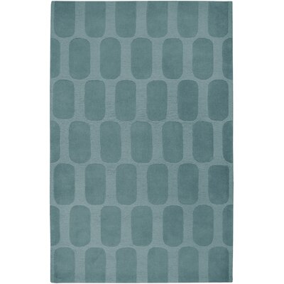 Hand-Woven Blue Area Rug Rug Size: 5 x 8