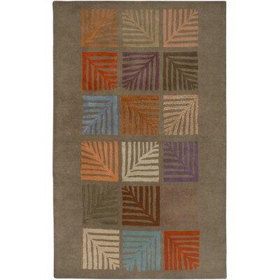 Hand-Tufted Brown Area Rug Rug Size: 5' x 8'