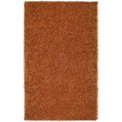 Hand-Tufted Orange Area Rug Rug Size: 3'6