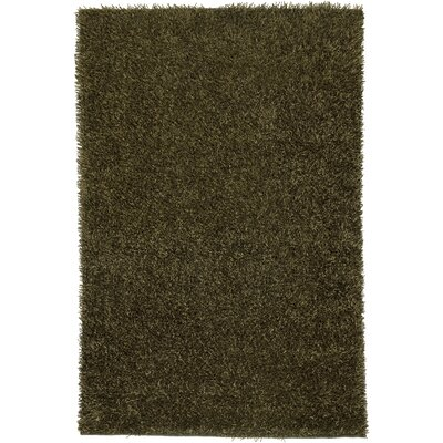 Hand-Tufted Olive Area Rug Rug Size: 5 x 7