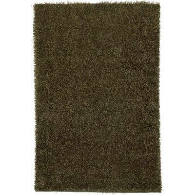 Hand-Tufted Olive Area Rug Rug Size: 6 x 9