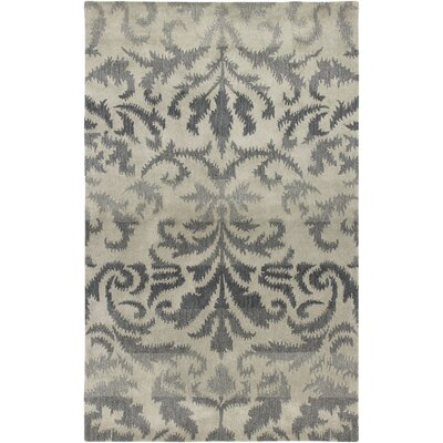 Hand-Tufted Gray Area Rug Rug Size: 3' x 5'