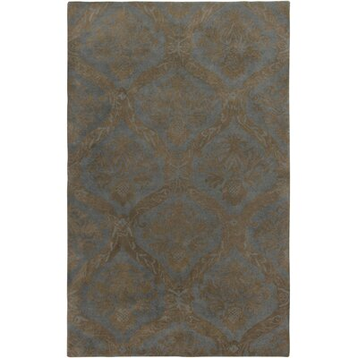 Hand-Tufted Gray Area Rug Rug Size: Round 8