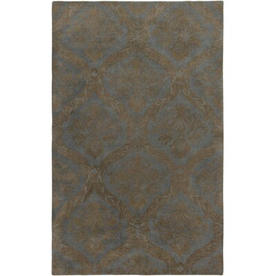 Hand-Tufted Gray Area Rug Rug Size: Rectangle 3' x 5'