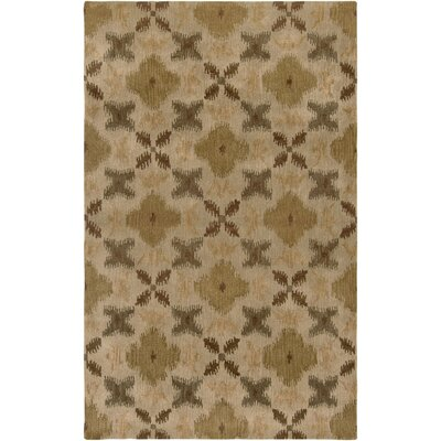 Hand-Tufted Wool Beige Area Rug Rug Size: Rectangle 8 x 10
