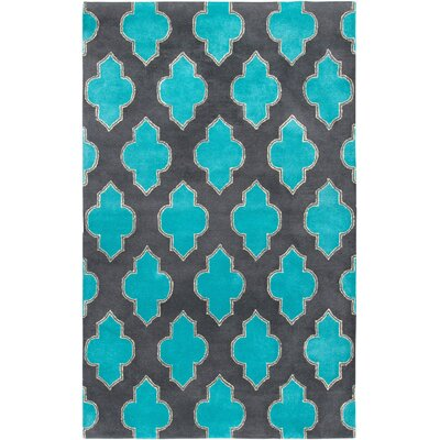 Handmade Gray/Blue Area Rug Rug Size: Rectangle 8 x 10