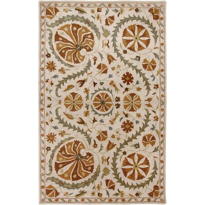 Hand-Tufted Beige Area Rug Rug Size: Rectangle 2 x 3