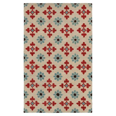 Hand-Tufted Ivory Area Rug Rug Size: Runner 26 x 8