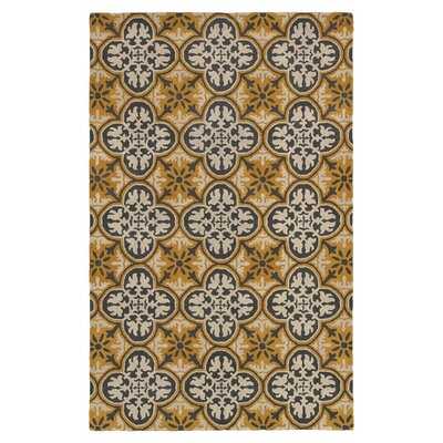 Hand-Tufted Gold/Yellow Area Rug Rug Size: 8' x 10'