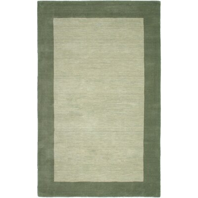 Hand-Woven Green Area Rug Rug Size: Rectangle 8 x 10