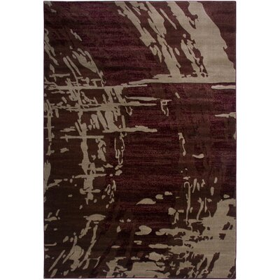 Red Area Rug Rug Size: 53 x 77