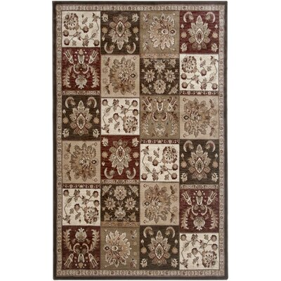 Brown Area Rug Rug Size: 67 x 96