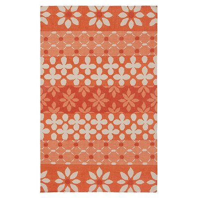 Hand-Woven Rust Area Rug Rug Size: Rectangle 5 x 8