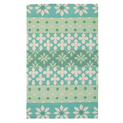 Hand-Woven Green Area Rug Rug Size: 2 x 3