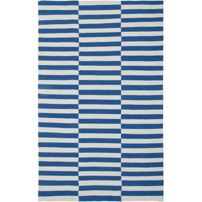 Hand-Woven Blue Area Rug Rug Size: Rectangle 5 x 8