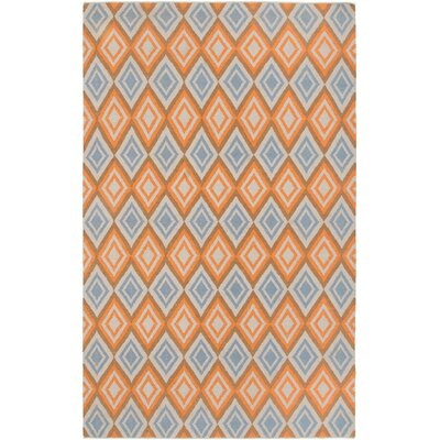 Hand-Woven Rust Area Rug Rug Size: Rectangle 8 x 10